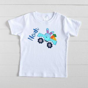 Bunny Easter Monster Truck Shirt, Personalized